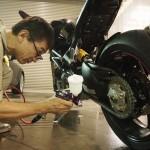 千葉県船橋市よりご来店頂きましたドゥカティ100evoにバイクコーティング「Ceramic×CR-1コーティング」を施工させて頂きました。
