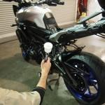 東京都よりご来店のMT-9にバイクコーティングを施工しました。