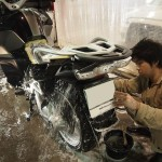 千葉県袖ケ浦よりご来店頂きましたBMW1200GSにバイクコーティングを施工させて頂きました。