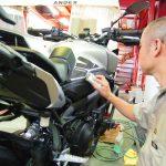 東京都よりご来店いただきましたMT-09にバイクコーティングを施工させていただきました。