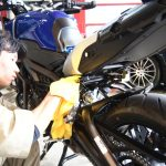 千葉県よりご来店のMT-09にバイクコーティングCeramicPro9H4層コートを施工させていただきました。