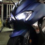 東京都からお越しのヤマハTMAXにセラミックプロ9H×CR-1バイクコーティングを施工させていただきました。