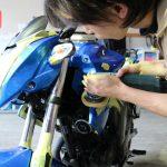 千葉県よりご来店でバイクコーティング「ハイドロコート」を施工させていただきました。