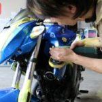 東京都よりご来店のスズキのバイクコーティングを施工させていただきました。