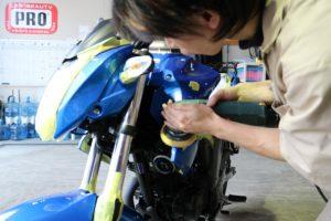 スズキのバイク バイクコーティング
