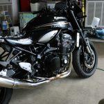 バイクコーティングをご依頼で茨城県よりKawasakiZ900RSが入庫しておりました。