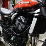 東京都からお越しのカワサキZ900RSにセラミックプロ9H4層バイクコーティングを施工させていただきました。