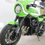 千葉県からお越しの新車カワサキZ900RSにセラミックプロ9H4層バイクコートを施工させていただきました。