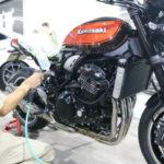 またまた入庫!!Kawasaki Z900RSにセラミックコーティング