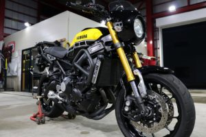 千葉県木更津市よりお越しのヤマハXSR900に親水性のCR-1バイクコーティングを施工しました。