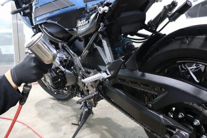 カワサキZ900RS バイクガラスコーティング