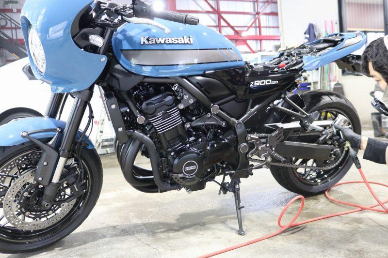 カワサキZ900RS バイクコーティング