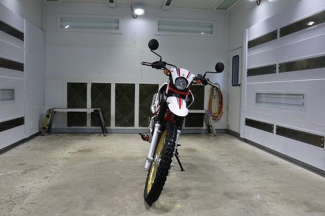 ヤマハ・セローにセラミックプロ9H10層コーティング施工前 正面画像