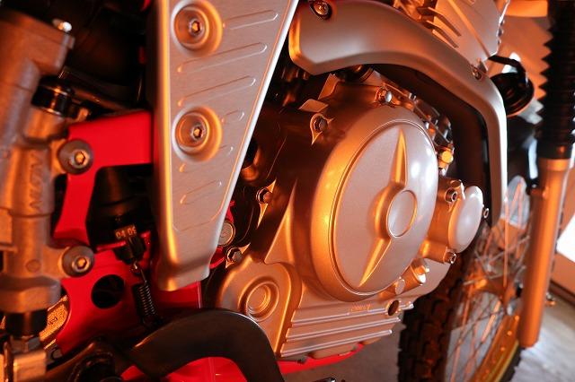 ヤマハ・セローにセラミックプロ9H10層コーティング施工 乾燥画像