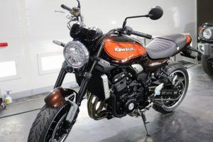 カワサキZ900RSバイクコーティング画像